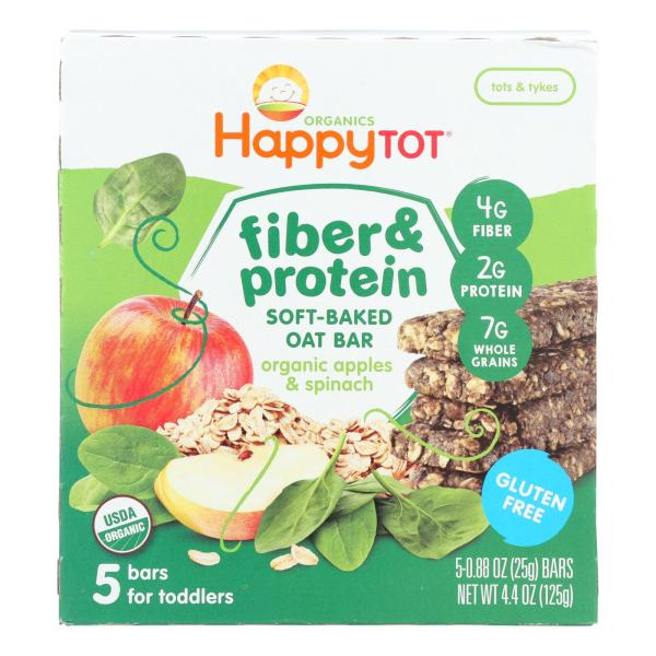 Happy Tot Soft Baked Oat Bar Organic Apples & Spinach - Case of 6 - 5/.88OZ %count(alt)