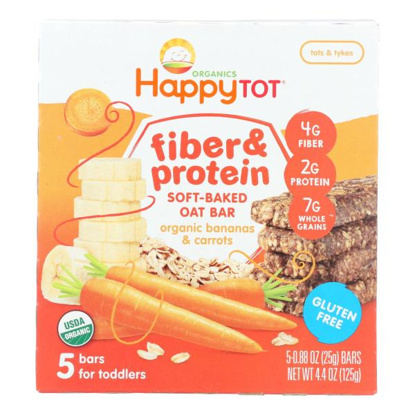Happy Tot Happy Tot Fiber and Protein - Apple Peach Pumpkin and Cinnamon - Case of 6 - 0.88 oz. %count(alt)