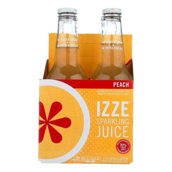 Izze Sparkling Juice - Peach - Case of 6 - 12 Fl oz. %count(alt)