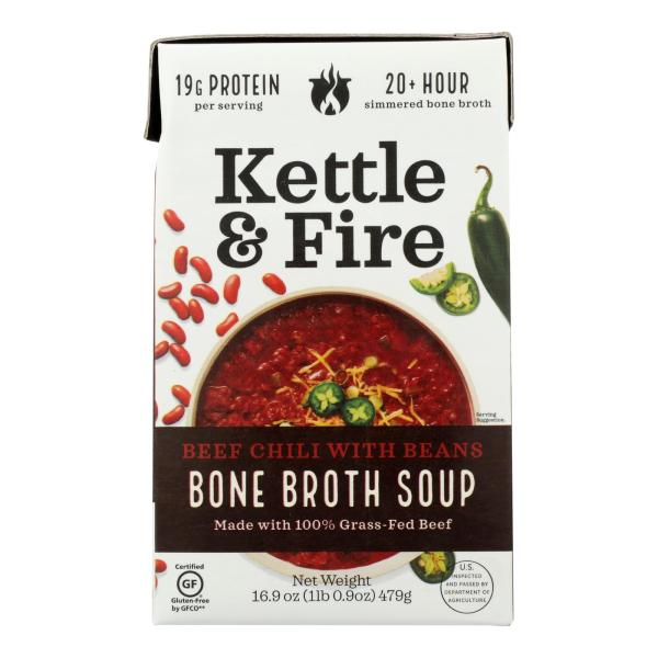 Kettle And Fire Chili With Beans - Case of 6 - 16.9 OZ %count(alt)