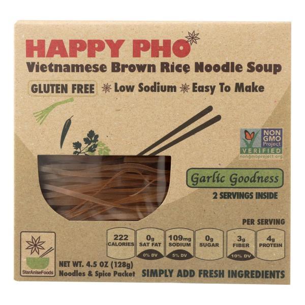 Happy Pho Brown Rice Noodle Soup Mix, Garlic Goodness - Case of 6 - 4.5 OZ %count(alt)