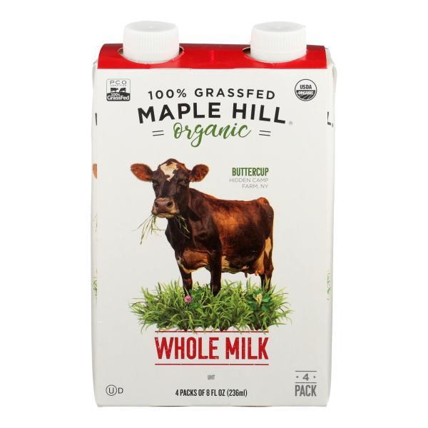 Maple Hill Creamery - Milk Shlf Stbl Whole Wht - Case of 4-4/8 FZ %count(alt)
