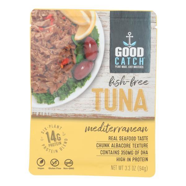 Plant Based Tuna Fish Mediterranean - Case of 12 - 3.3 OZ %count(alt)