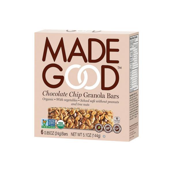 Made Good Granola Bar - Chocolate Chip - Case of 6 - 5 oz. %count(alt)
