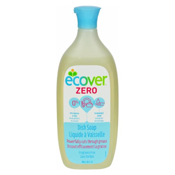 Ecover Dish Soap - Liquid - Zero - Fragrance Free - 25 fl oz - 1 Case %count(alt)