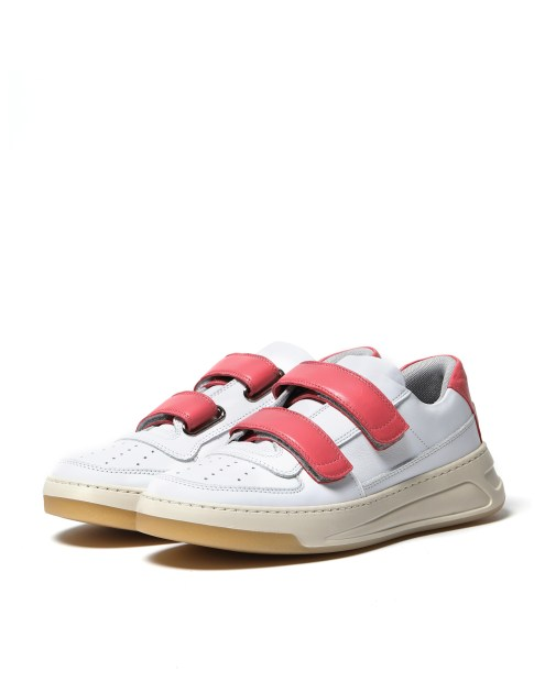 Acne Studios white x pink sneakers $2,999
