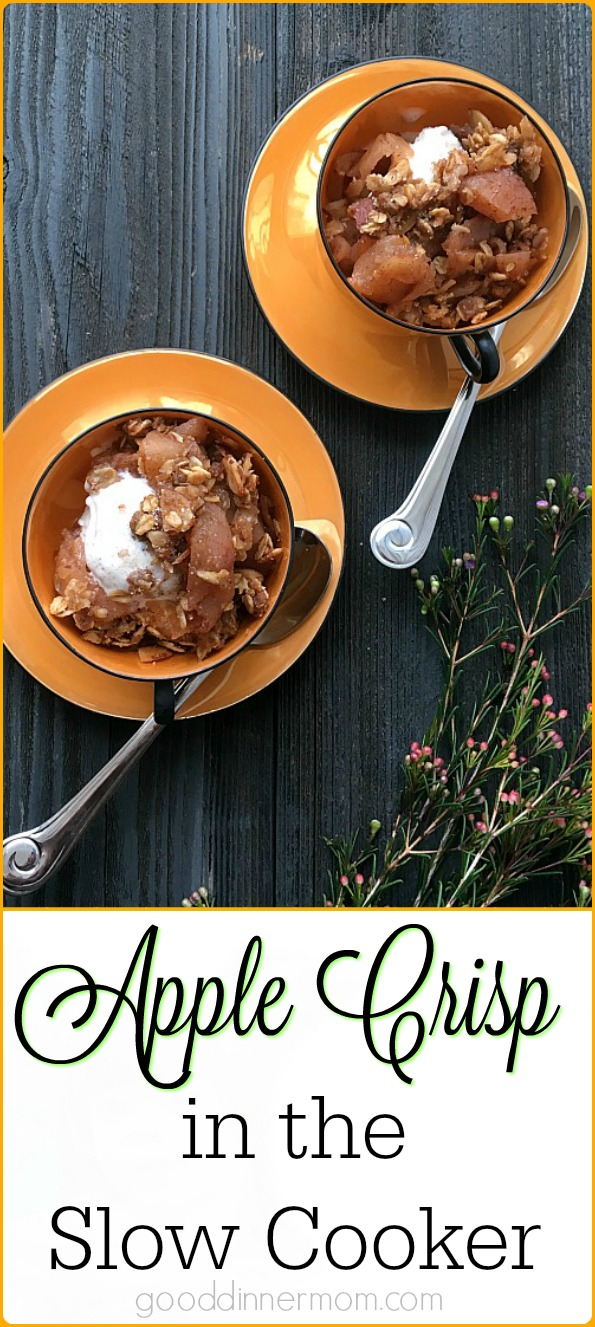 Sweet, tart, crunchy and delicious Apple Crisp made in the slow cooker.