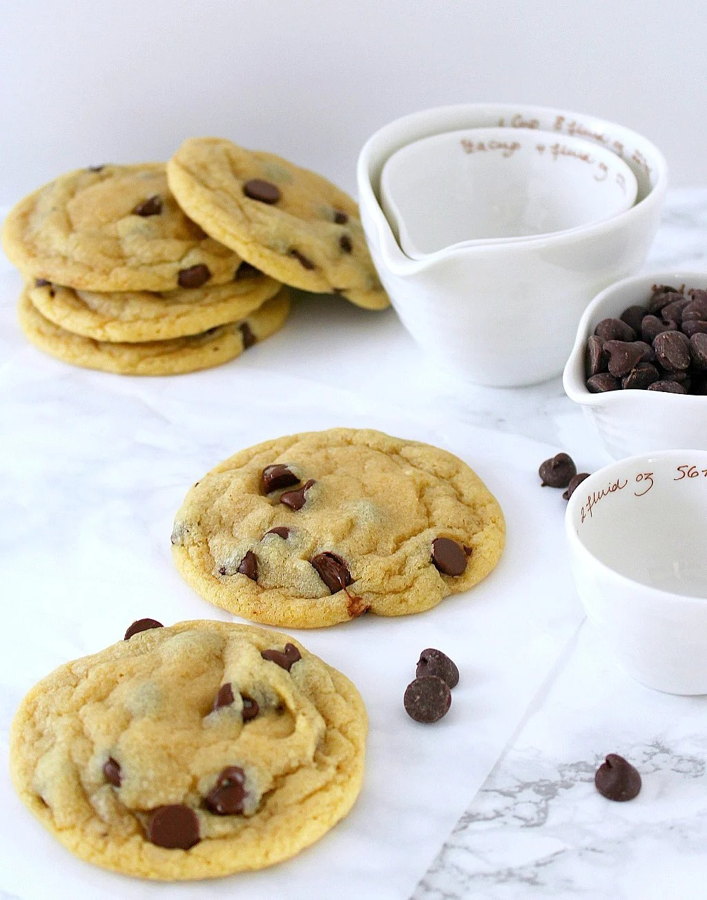 The best chocolate chip cookies are actually within reach. Soft, chewy, perfect everytime. Use melted butter, don't overmix. Huge cookies made just right.