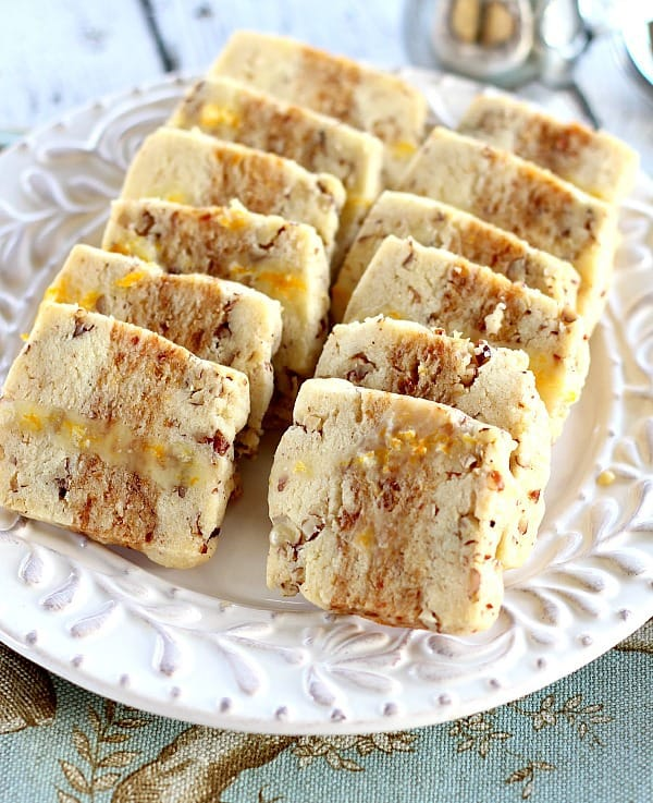 Orange Glazed Date-Nut Cookies