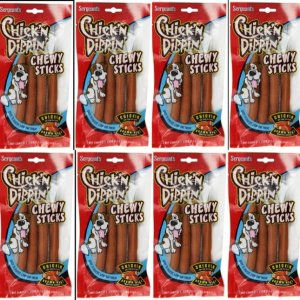 Sergeants Chick'N Dippin' Brown Rice & Chicken Chew Sticks case 12 front view