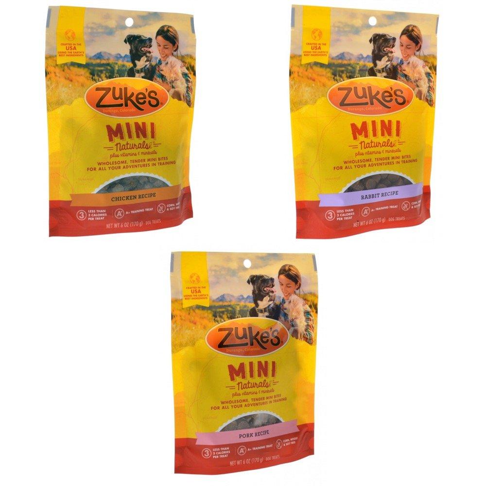 Zukes Mini Naturals Variety Pack of 3 - Good Doggen