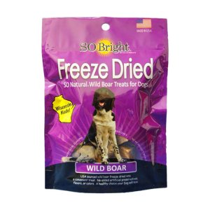 so bright freeze dry boar dog treats front view