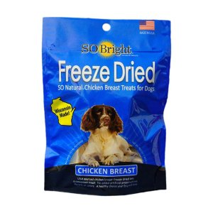 so bright freeze dry chicken dog treats front view