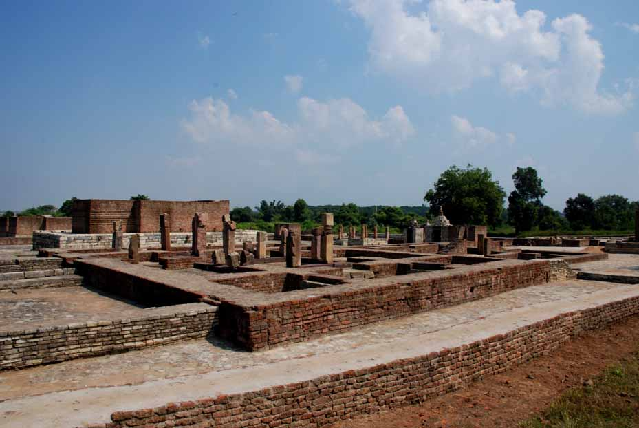 General overview of site SRP 24-25. The pillars in the foreground are all that remains of the Jain temple