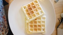 Our waffles before adding toppings....