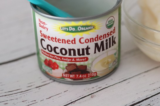 **I use sweetened condensed coconut milk.
