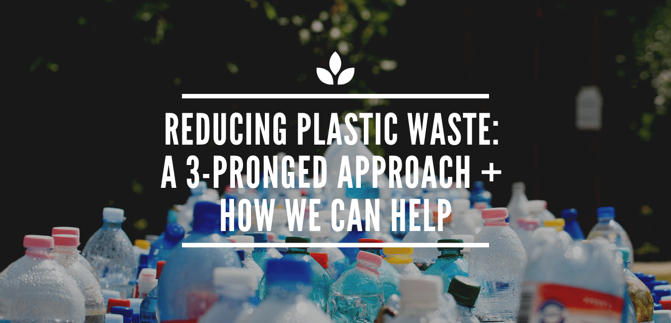 REDUCING PLASTIC WASTE: A 3-PRONGED APPROACH + HOW WE CAN HELP