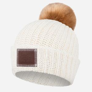 Love Your Melon Beanie with Pom - white