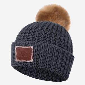 Love Your Melon Pom Beanie - Dark Charcoal