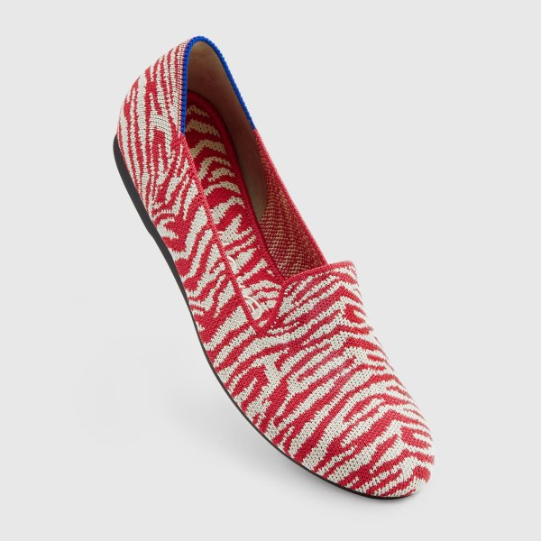Rothy's Red Zebra Loafer