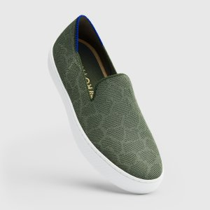 Rothys Green Safari Sneaker