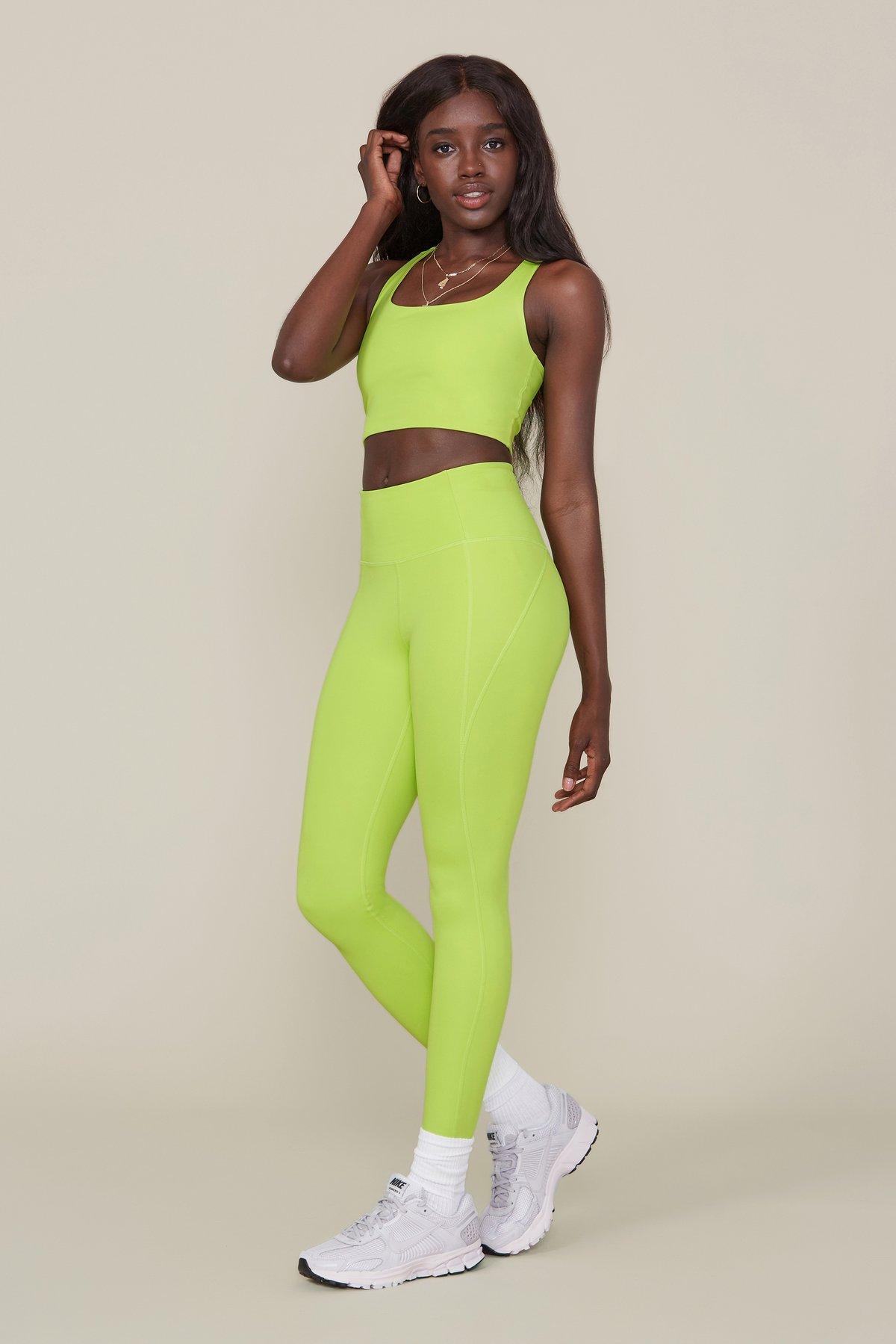 73cc608478 Girlfriend Collective // Lime Compressive High-Rise Legging