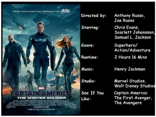 Captain America Winter Soldier movie info