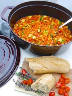 La Cocotte: Gemüse-Schmortopf mit roten Linsen_2   Rezept Dr. Alexa Iwan