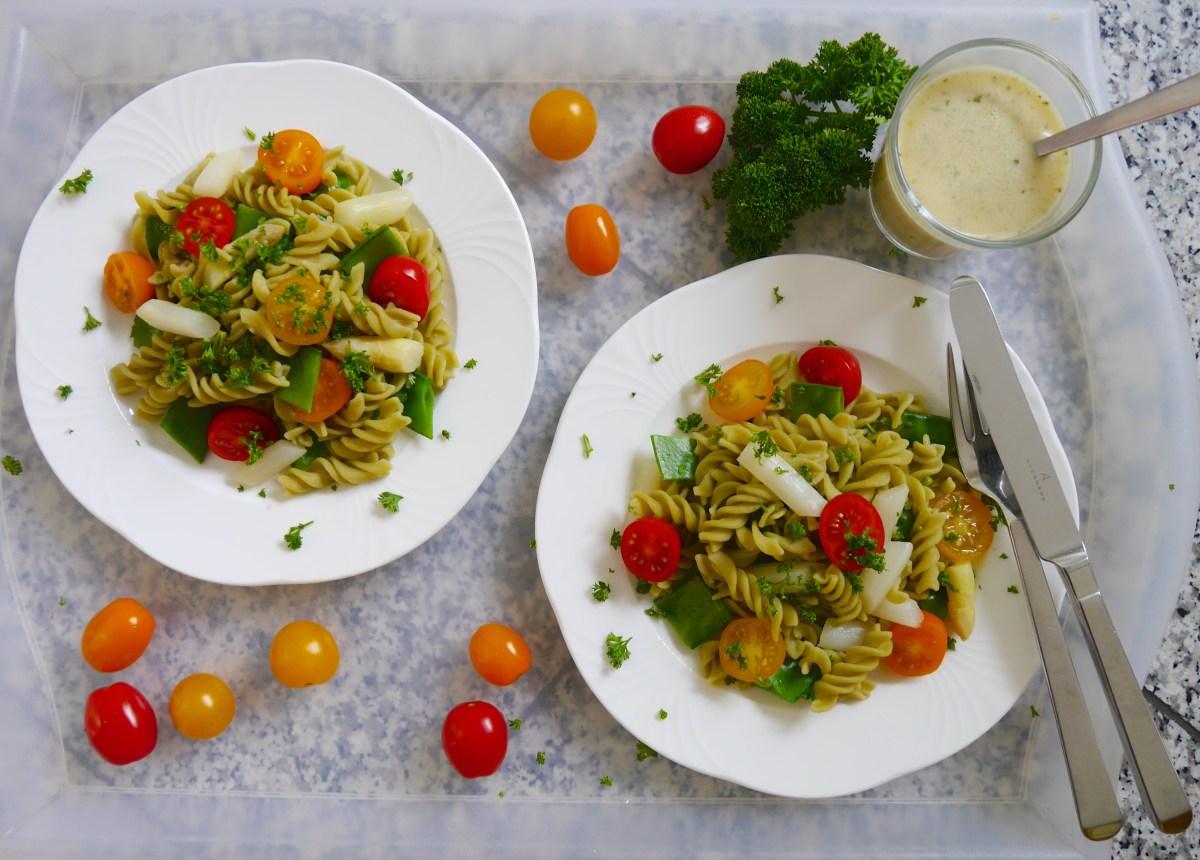 Glutenfrei: Nudelsalat mit Fusilli Grüne Erbsen