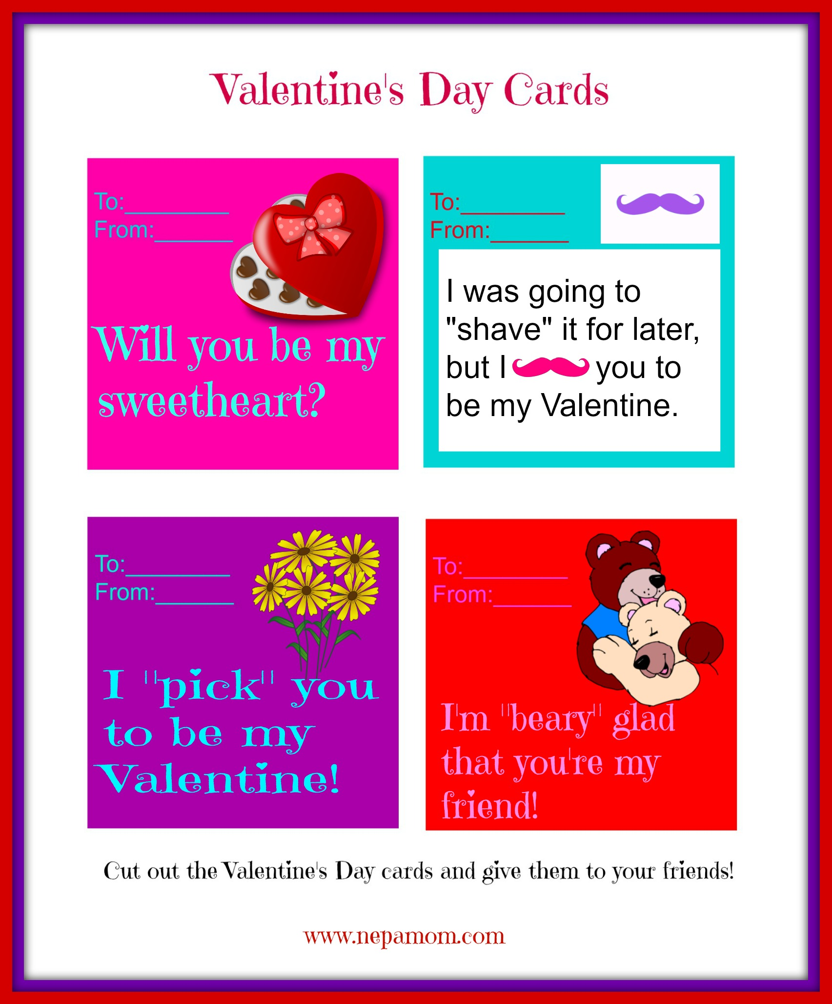 Printable Valentine S Day Cards
