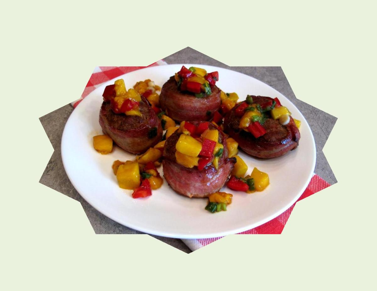 Spiced Pork Medallions with Mango Salsa