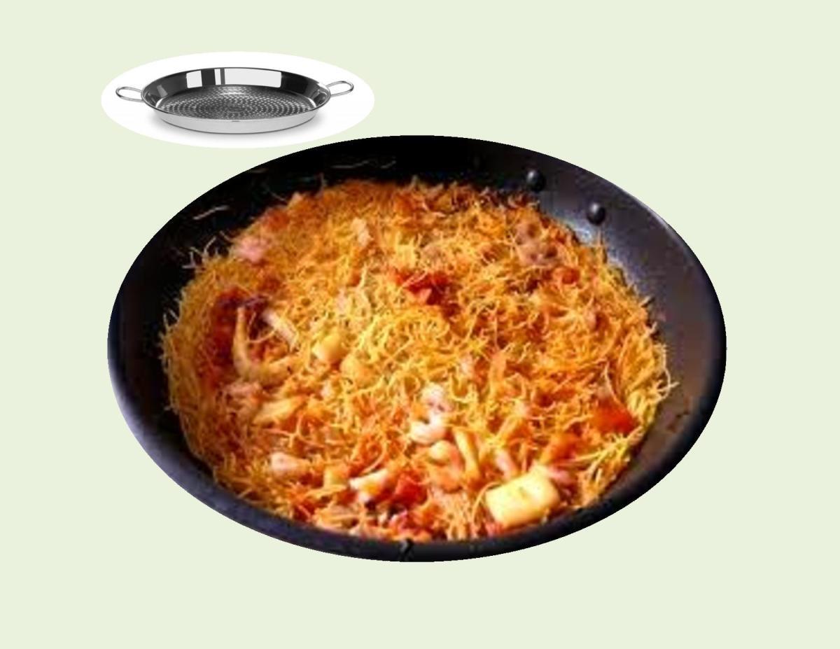 Fideua` —  Seafood Paella with Pasta