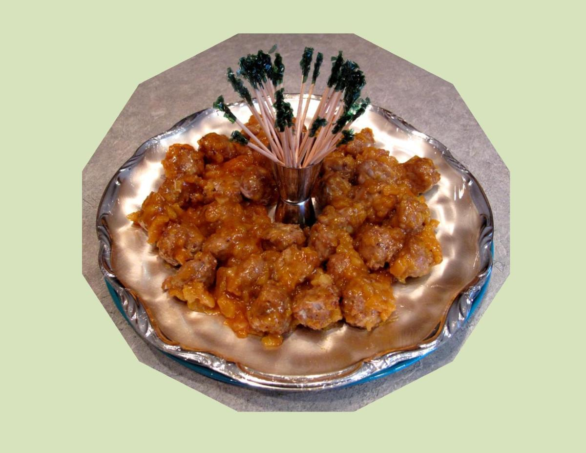 Apricot-Spice Meatball Hors d' Oeuvres