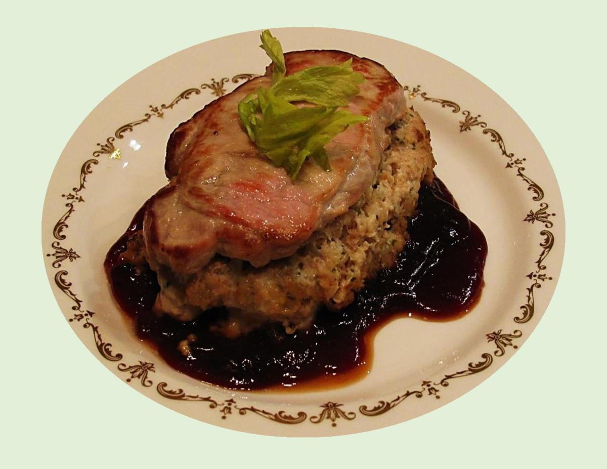 Pork Loin Chops with Crab meat Stuffing