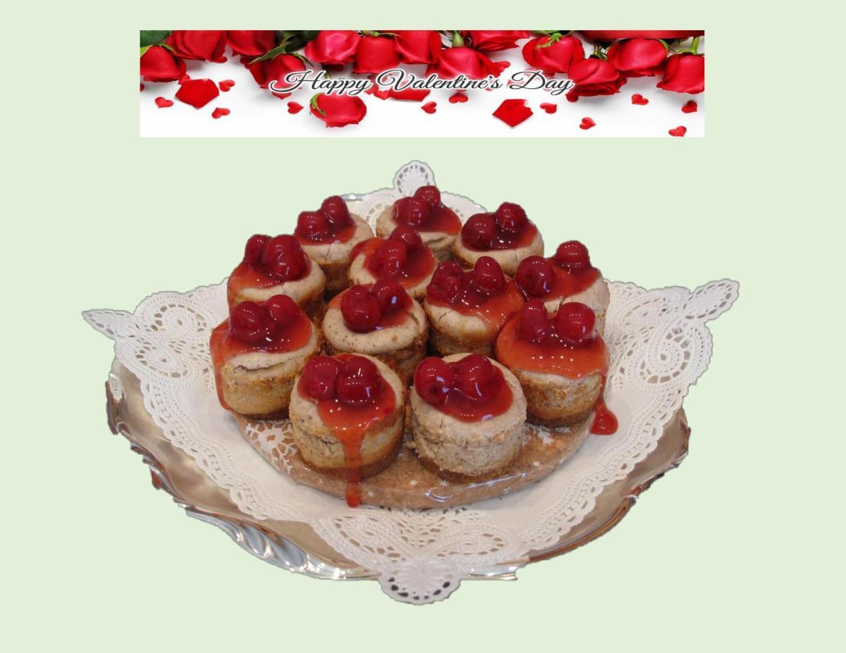 Cherry Chai Cheesecake Bites