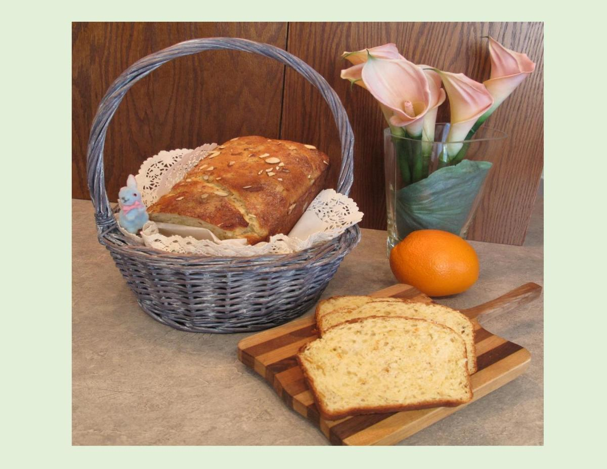 Easter Bread with Anise & Orange Blossom Water