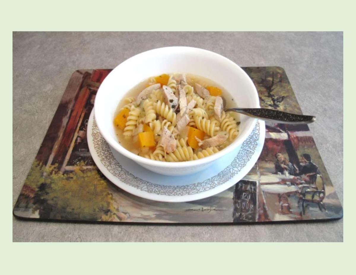 Chicken, Squash & Pasta Soup