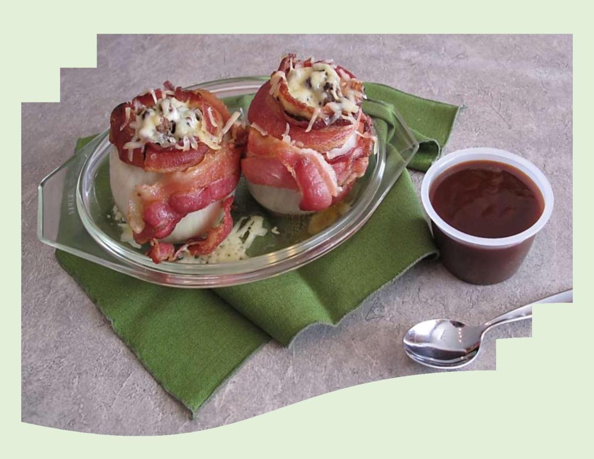 Bacon Meatball Stuffed Onions