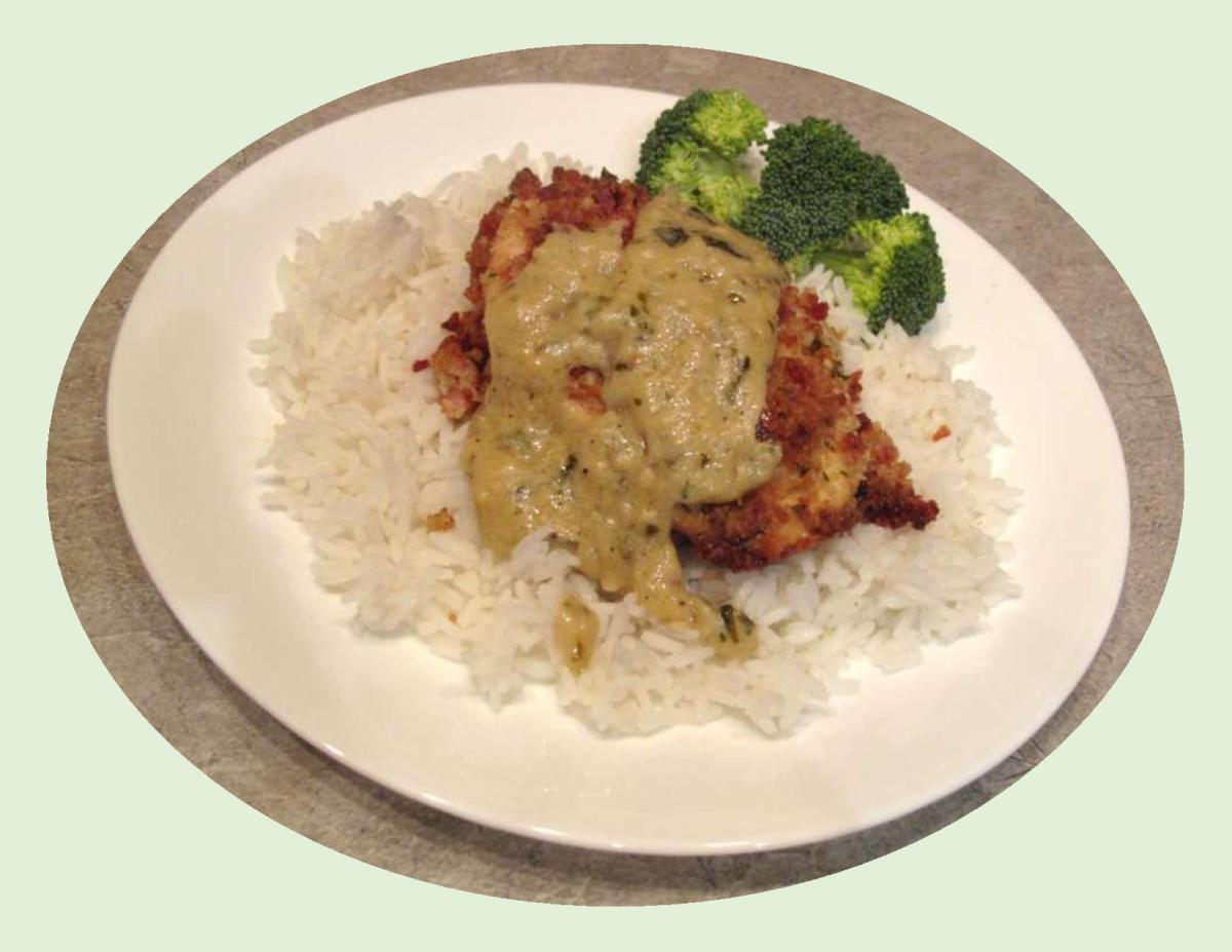 Chicken Parmigiana with Basil Sauce