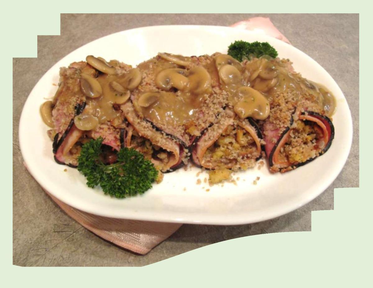 Seed Encrusted Ham Cordon Bleu