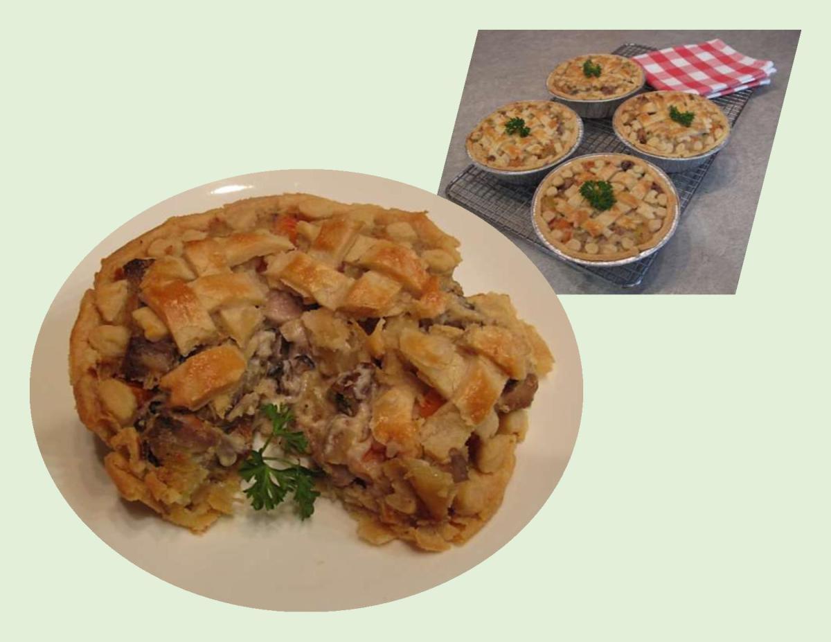 Pork & Smoked Oyster Pot Pies