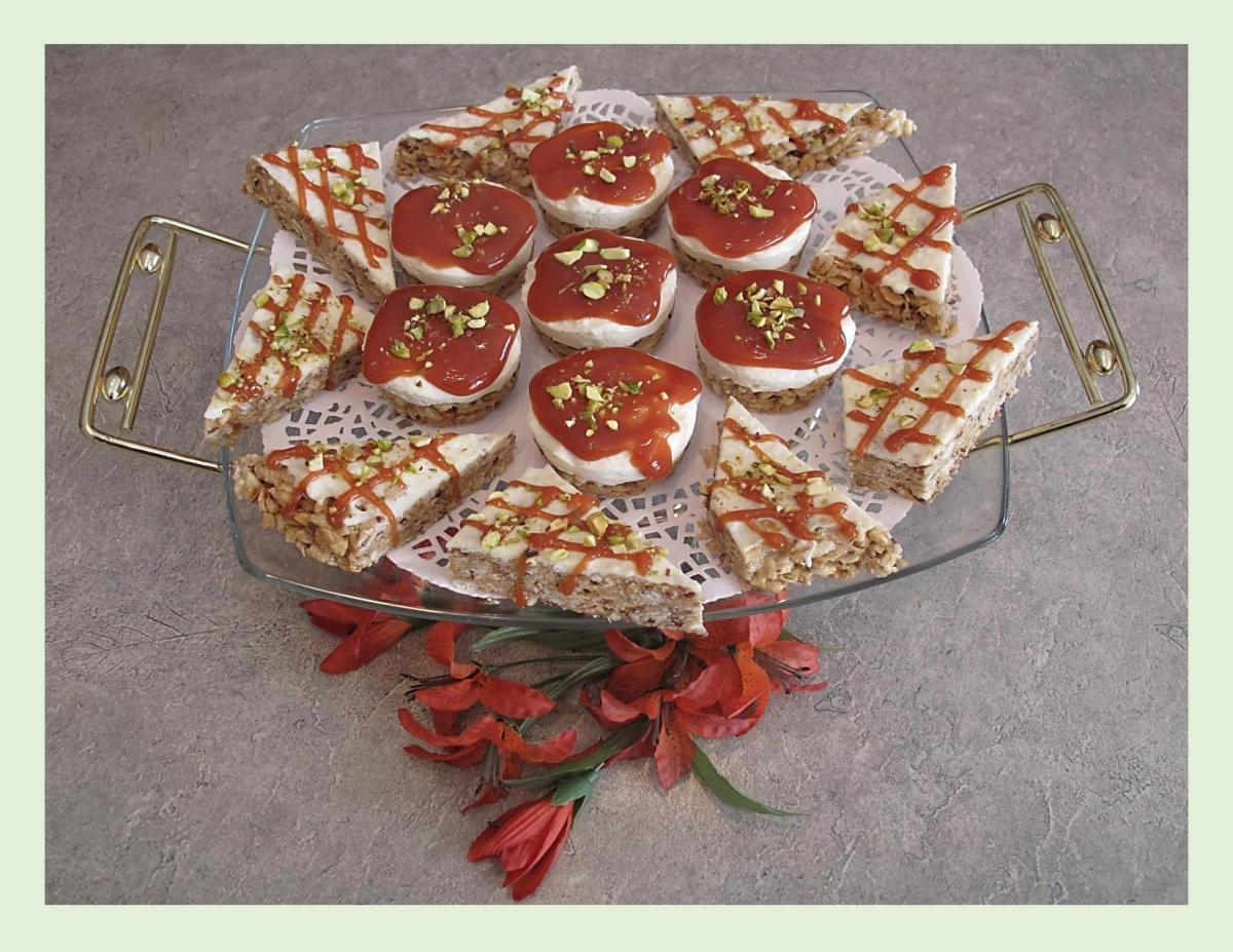 Tropical Rice Crispy Cheesecake Squares