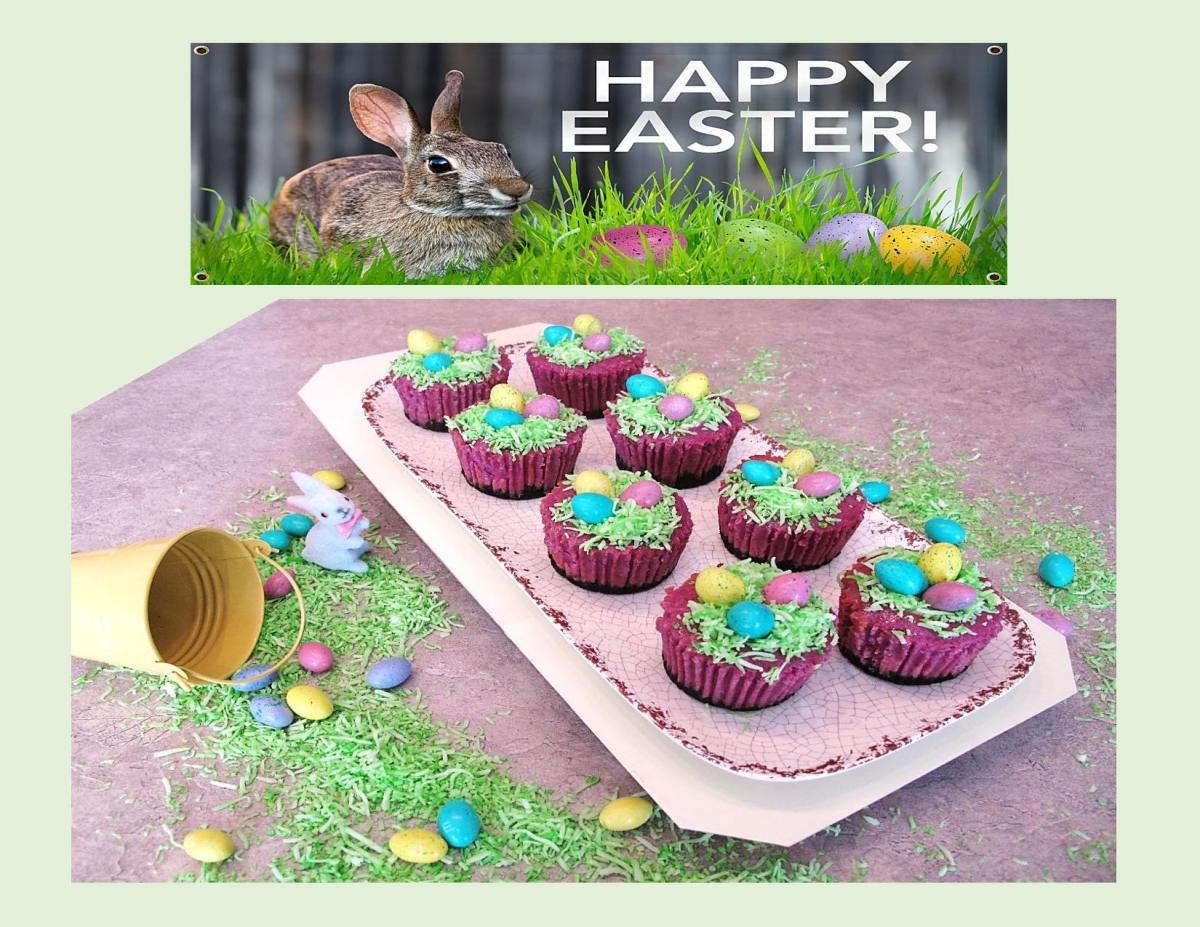 Easter 'Ube' Cheesecake Baskets