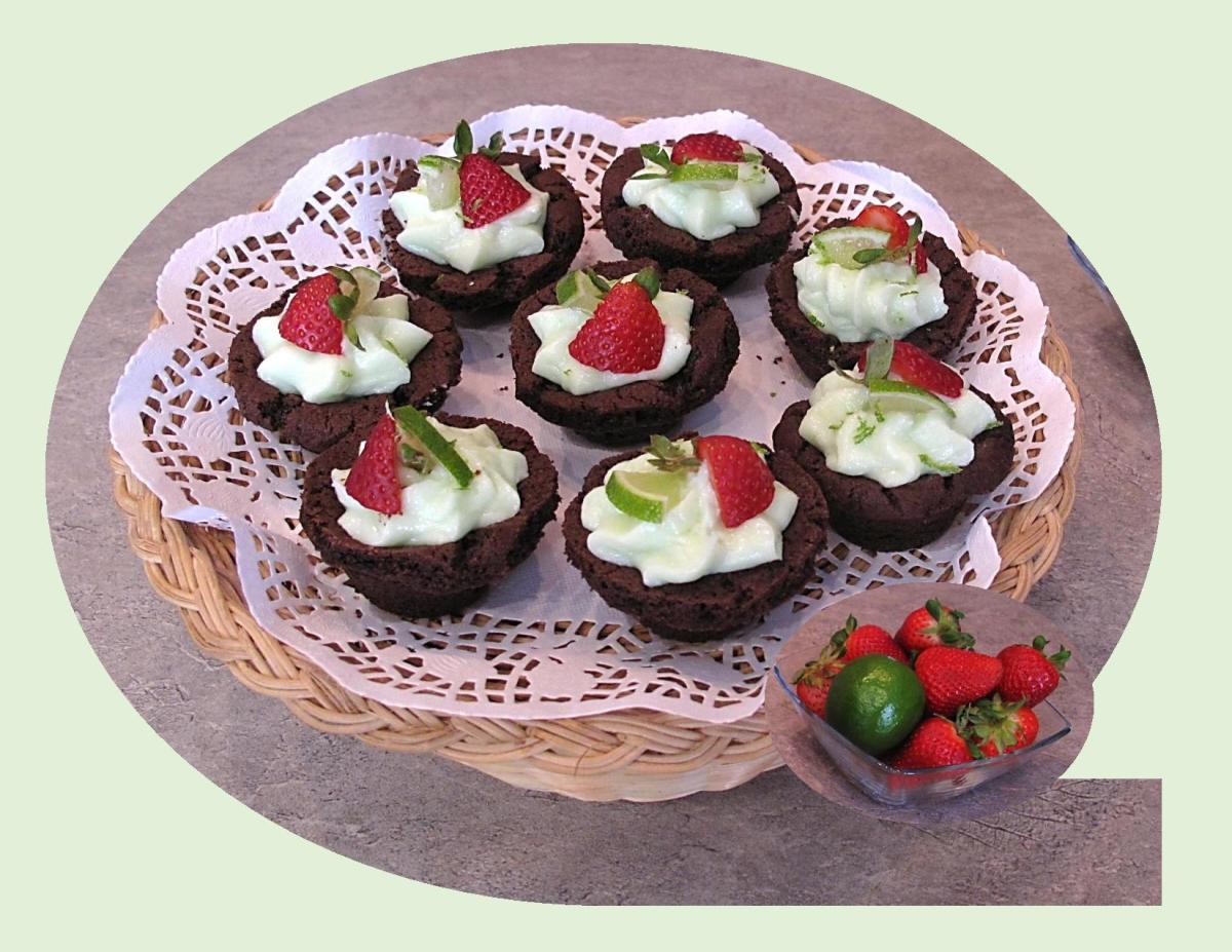 Strawberry Lime Cheesecake Cups