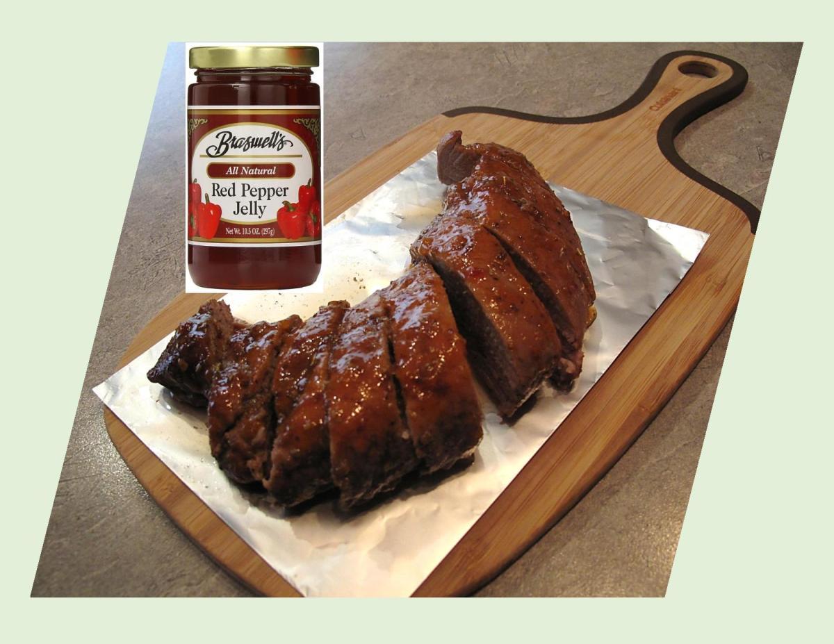 Pepper-Peach Glazed Pork Tenderloin