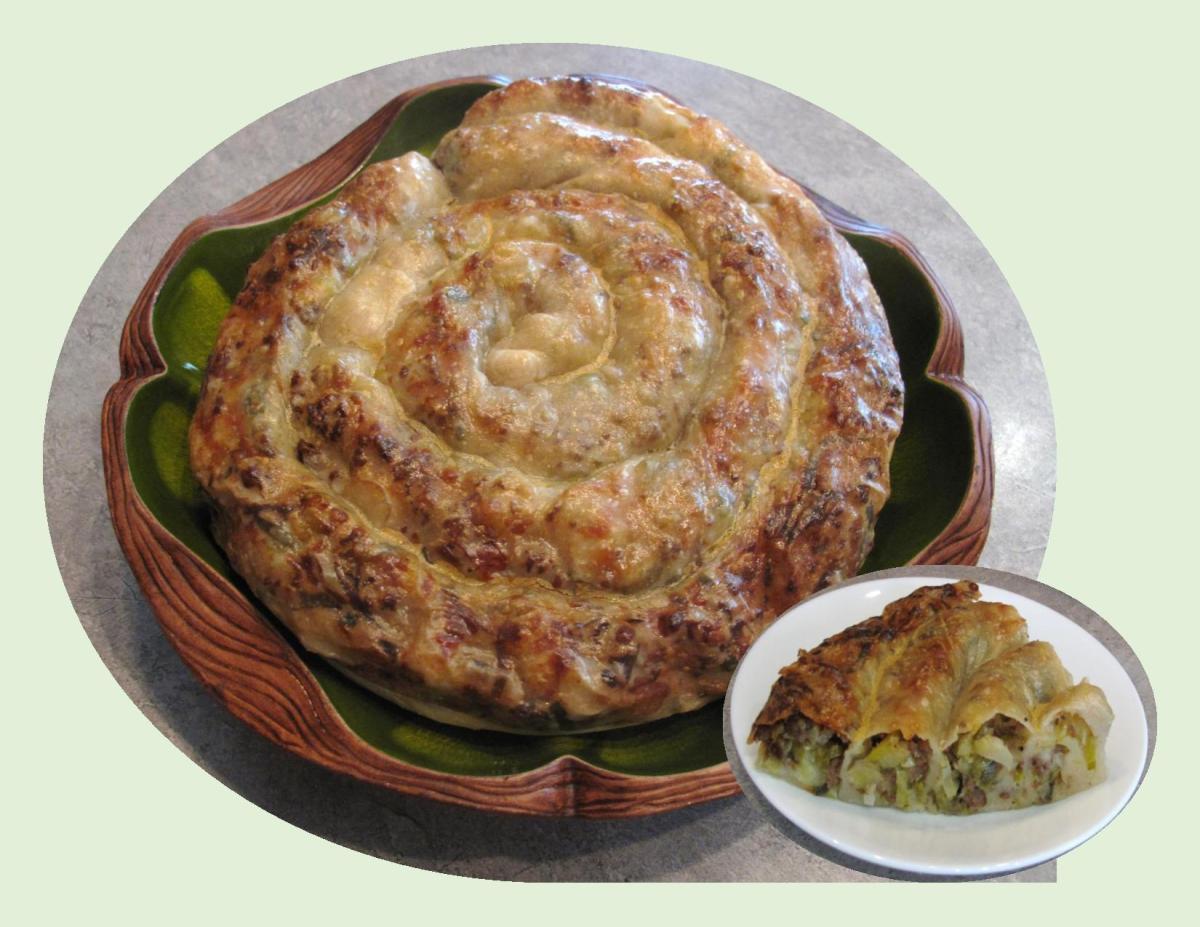 Turkish Borek w/ Beef, Leeks & Potato