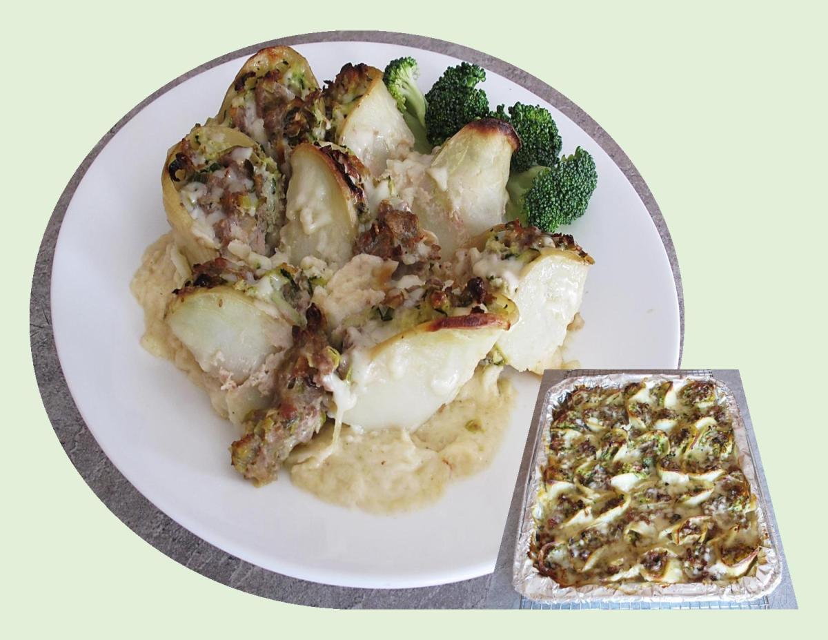 Scalloped Potato Turkey Rolls