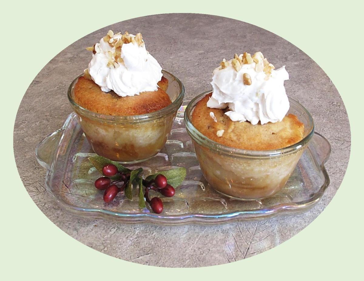 Caramel Pear Pudding Cake