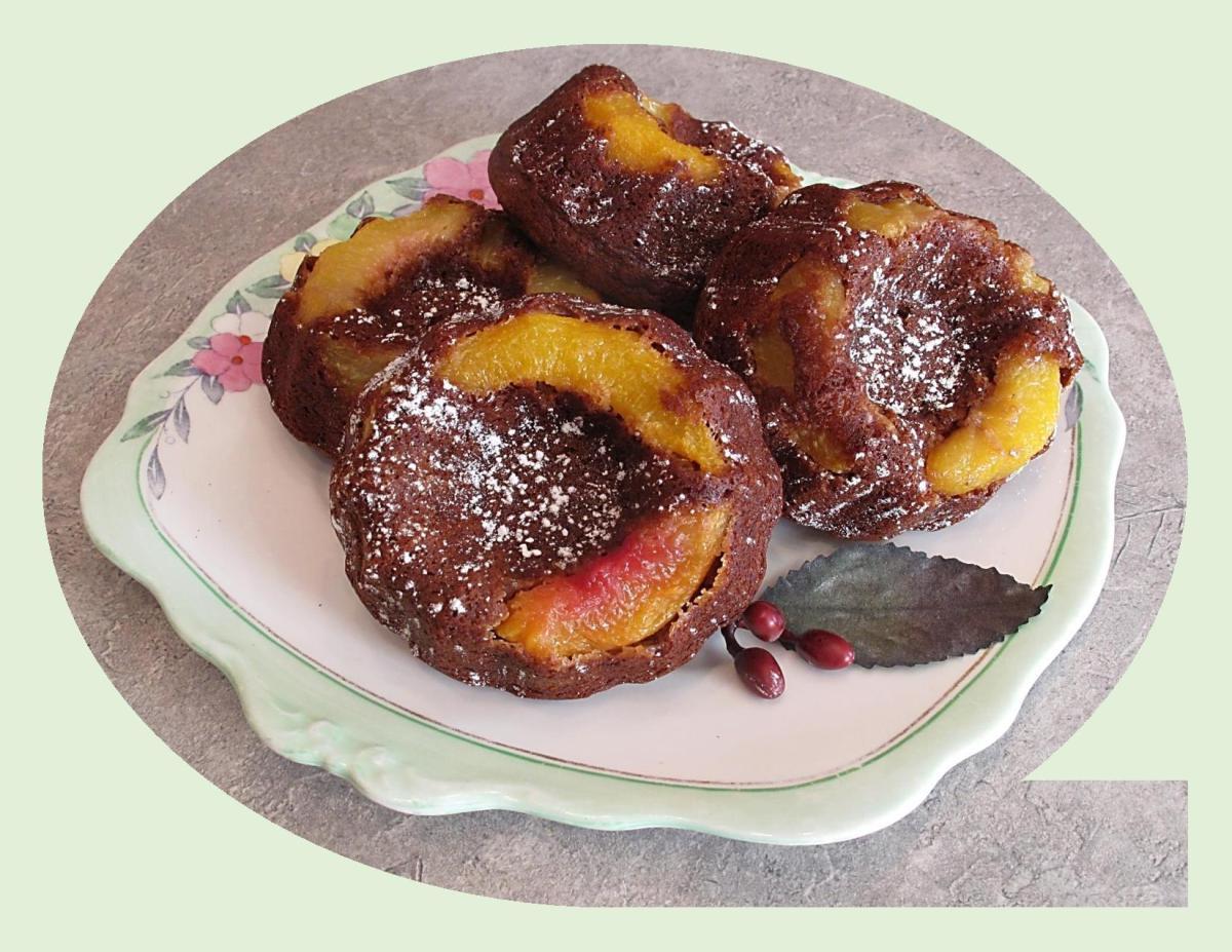 Peach Gingerbread Oatmeal Cakes