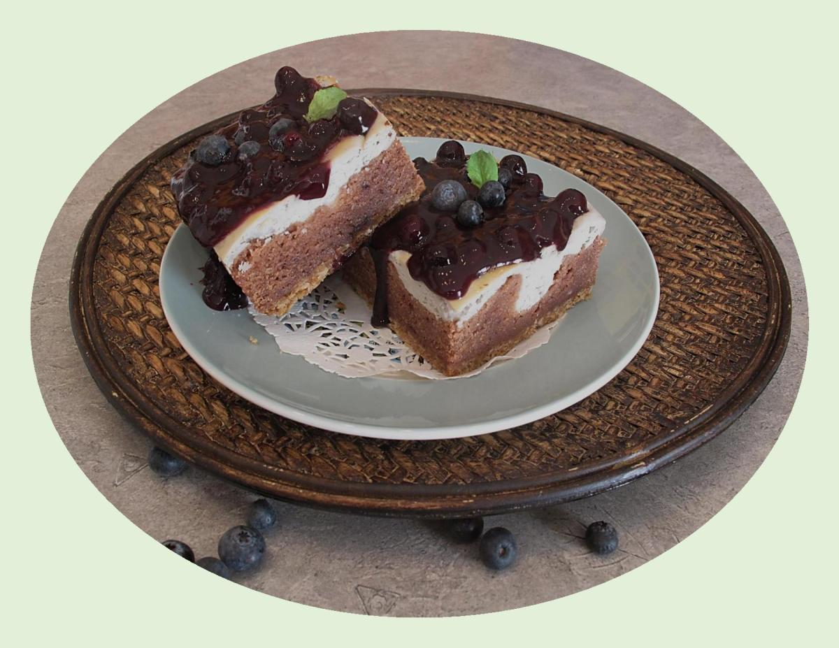 Blueberry Cream Cheese Brownies